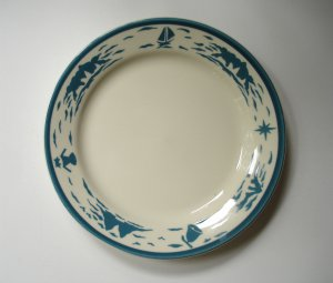 Homer Laughlin Nautical Restaurant Ware Plate