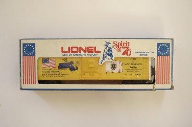 Lionel Spirit of 76 Massachusetts Boxcar 6-7606 NEW