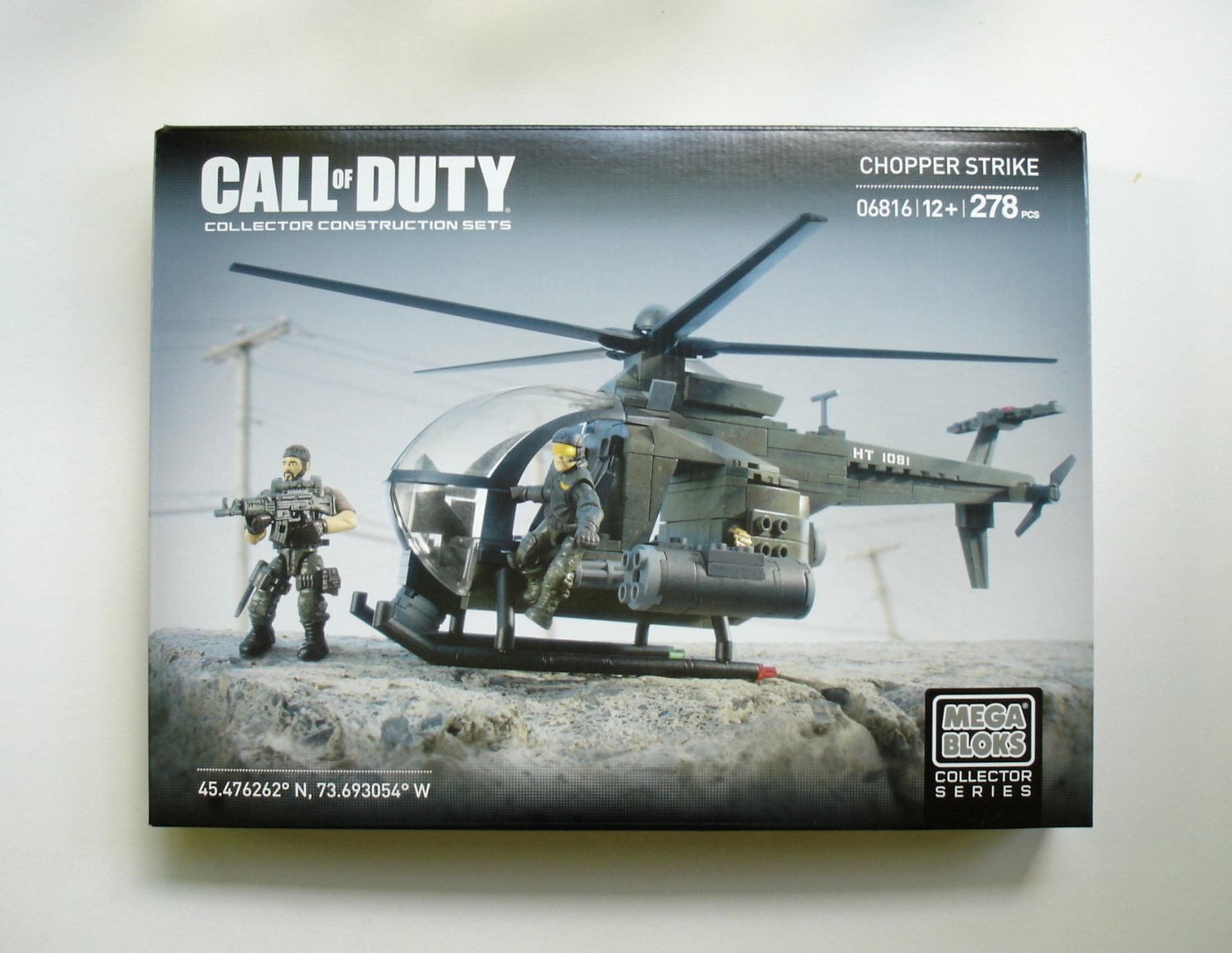 MEGA BLOKS Call of Duty Chopper Strike 06816 NEW