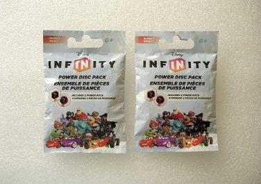2 Disney Infinity Power Disc Packs Series 1 NEW