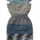 Barbie Doll Knit Alpaca Blend Multi-Color Off Shoulder Sweater Dress
