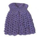 Barbie Doll Crochet Lavendar Open Front Long Cardigan