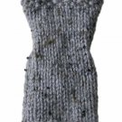 Barbie Doll Knit Gray Tweed Shift Sweater Dress