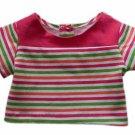 "18"" Doll Clothes Multi-Color Striped Top"