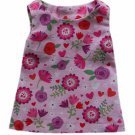 """18"""" Doll Clothes Pink Floral Print Dress"""