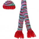 Barbie Doll Knit Christmas Hat and Scarf Set