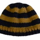 """18"""" Doll Clothes Knit Navy Blue and Gold Hat"""