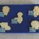 Walt Disney Classics Fifth Anniversay Pin Set, WDCC boxed set, NEVER displayed