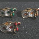 Swarovski Masquerade Pierrot Columbine Harlequin Pins