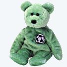 (12) KICKS The Soccer Bear TY Beanie Babies DOZEN NEW MWT