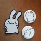 Bunny Patch and Bunny/Hamster Button Set