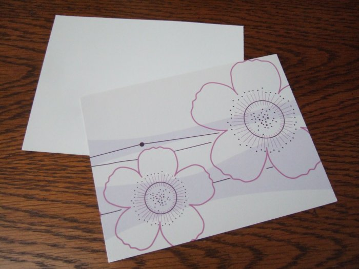 Custom made Floral Postcards