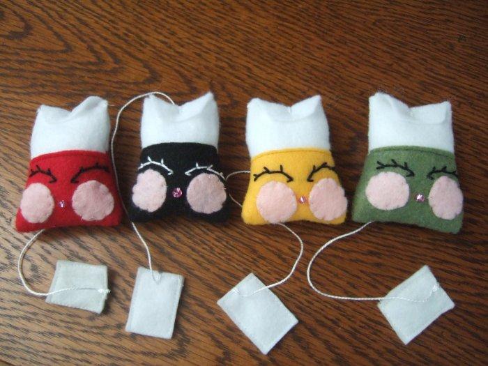 Handmade Felt Tea Bags