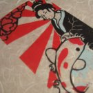 Linoprint Japanese Sun Goddess Amaterasu