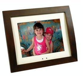 """SmartParts 8"""" Digital Picture Frame Dark Wood SPX8"""