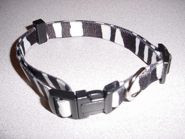 Medium Zebra Print Collar