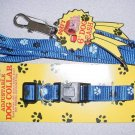 Blue Paw Print Collar & Lead Set
