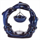 Triple Blue Dolphins Oil Burner