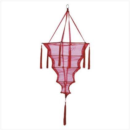 Red Fabric Lantern/Tassel