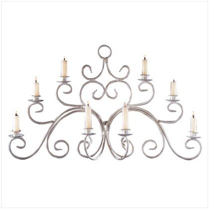 WROUGHT IRON WALL CANDLE SCNCE 33586