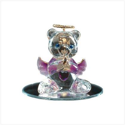Feb Glass Angel Bear with Heart 35068