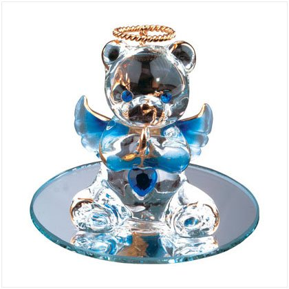 Sept Glass Angel Bear with Heart 35075