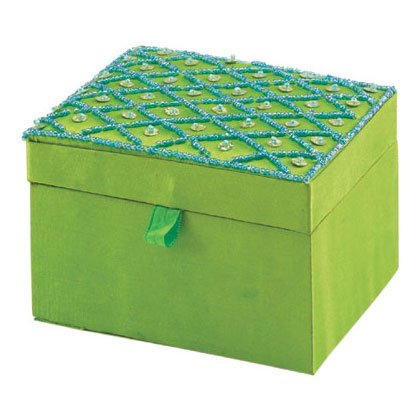 Fabric Embroidered Jewelry Box 35539