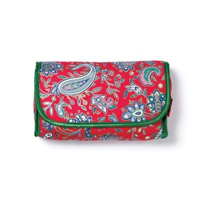 Red/Green Paisley Cosmetic Bag 36763