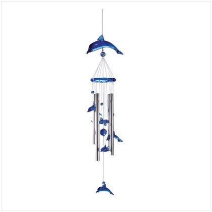ACRYLIC DOLPHIN WINDCHIME Pack of 3 33653