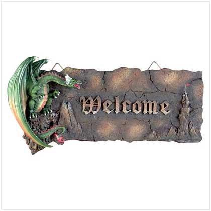 ALAB GREEN DRAGON WELCOME PLAQ