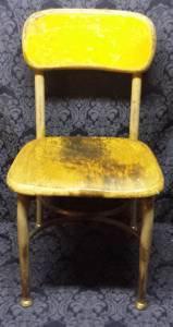Vtg Heywood Wakefield Mid-Century Small Wood & Metal Student School Desk Chair
