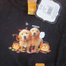 HALLOWEEN TEE SHIRT Girls 6-6X Puppy w Pumpkins