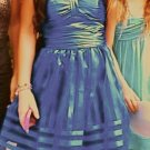 Betsey Johnson Organza Dress Blue Evening SZ 2 Prom