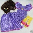 6pc DORA EXPLORER COSTUME Girls 4-6 WIG SHOES DRESS NIP