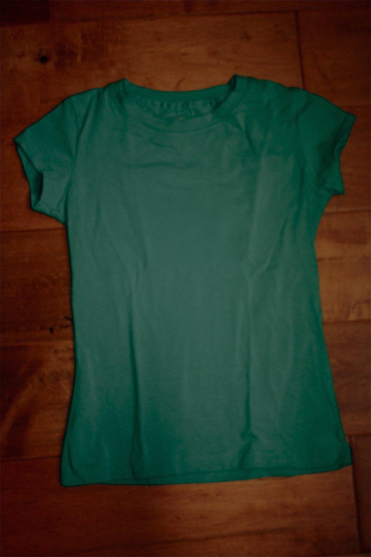 Girl SCOUT Green UNIFORM Short Sleeve Fitted TEE SHIRT S 6/6X