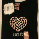HALLOWEEN CANDY CORN TEE (L) 10/12 GIRLS COSTUME T SHIRT NWT