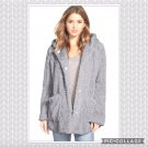 Kenneth Cole TEDDY BEAR FUR COAT Grey