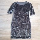 Sexy CRUSHED VELVET DRESS Grey S