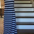 Long STRIPED Blue/White Sun Dress (S)