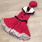 1940s Girls Costume WARTIME PINUP GIRL COSTUME SET Red