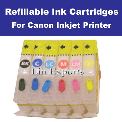Refillable Cartridges for Canon i960 iP6000 S820 i9100D BCI-6 FREE SHIPPING WORLDWIDE!!!