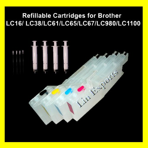 XL Refillable Cartridges for Brother LC11 LC16 LC38 LC61 LC65 LC67 LC980 LC1100 FREE Shipping!!!