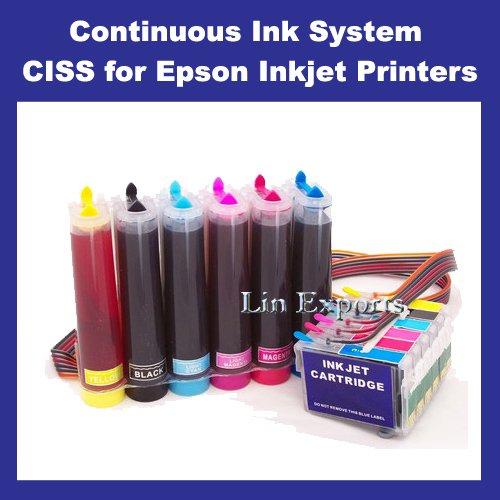 UV INK CIS System for Epson R260 R280 R380 RX595 RX580 RX680 (T0781-T0786)