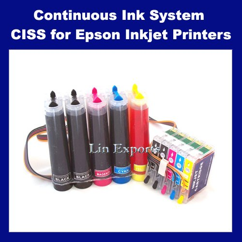 UV INK CIS System for Epson Stylus C120 (T0691 T0691 T0692 T0693 T0694)