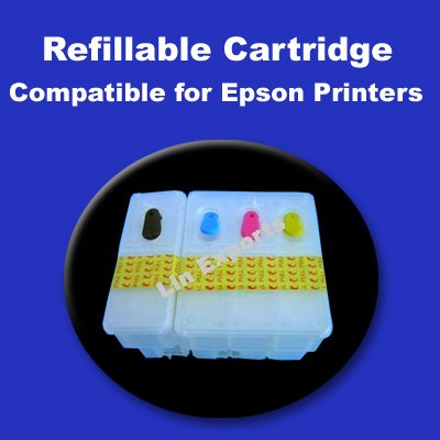 Refillable Cartridges for Epson Stylus 680 680T 685 777 777i 1000ICS (T017 T018) FREE S/H!!!