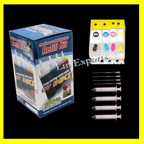 Pigment/UV Ink Refillable Cartridges for Canon ip3300 ip3500 ix4000 ix5000 MP520 MX700 FREE S&H!