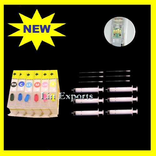 Compatible Refillable Cartridges for Canon Pixma ip7500 AutoReset Chips CLI-8 FREE S&H!!!