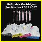 Refillable Cartridges for Brother DCP-540CN DCP-560 DCP-750CW FREE Shipping Worldwide!!!