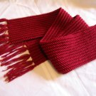 BURGUNDY WINTER SCARF HANDMADE CROCHET CROCHETED