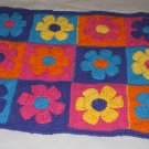 FLOWER POWER RUG HANDMADE CROCHET CROCHETED